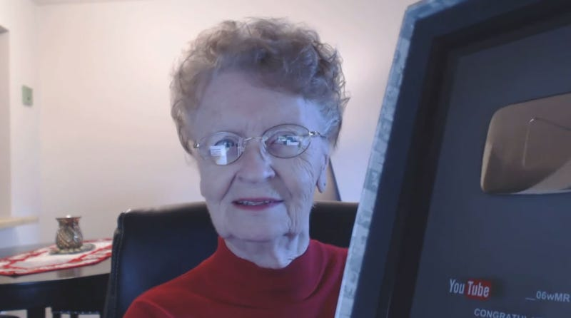 Illustration for article titled Grandmother Who Plays Skyrim Has Made Over 300 Videos