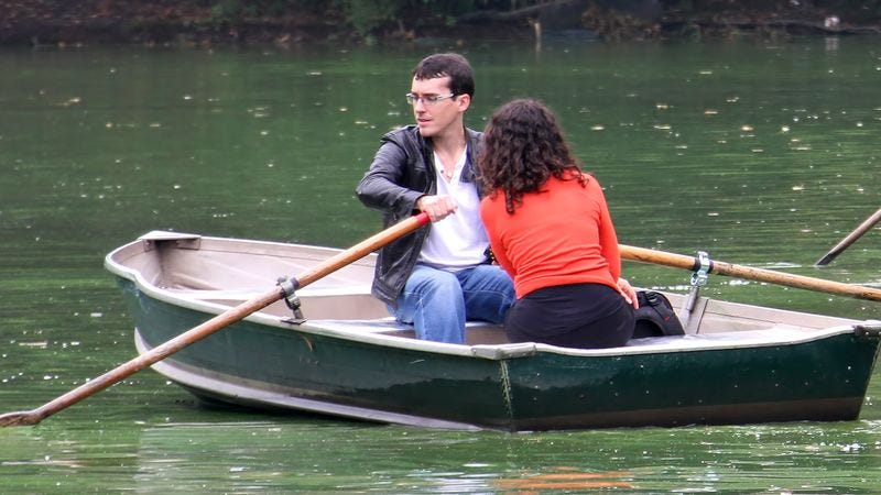 Illustration for article titled 'Back To Dock' Voted Most Popular Destination Among Current Rowboat Passengers
