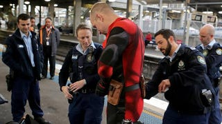 "Illustration for article titled Cops Called On Cosplayer Riding Train With ""Guns, Swords & Grenades"""