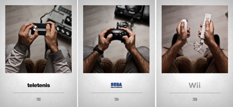 Illustration for article titled Photo Series Focuses On The Evolution Of Video Game Controllers