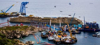 Illustration for article titled The Crazy Complex Project to Salvage the Costa Concordia Starts Monday