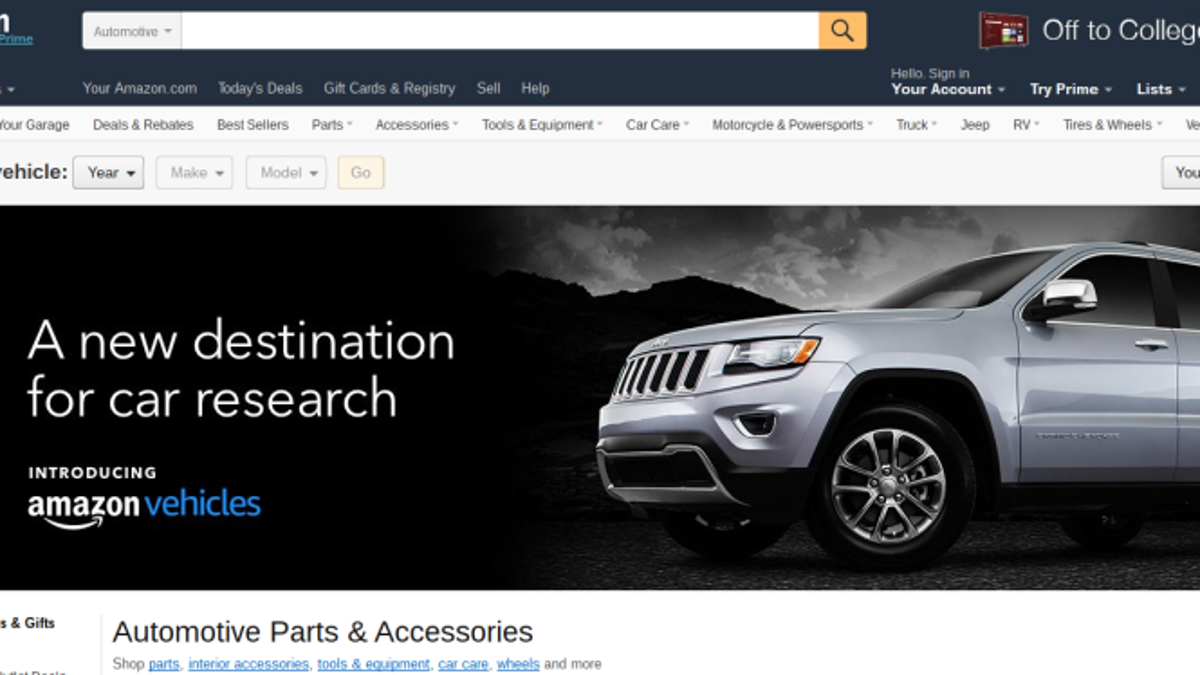 Amazon Now Sells Cars