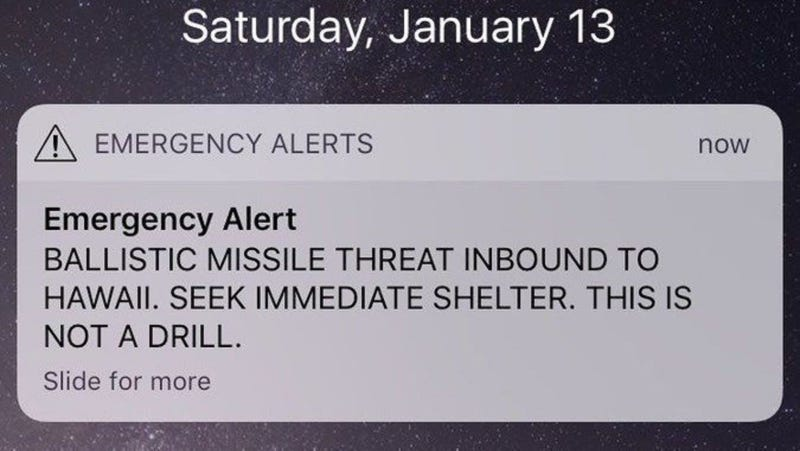 The bogus alert that caused this headache.
