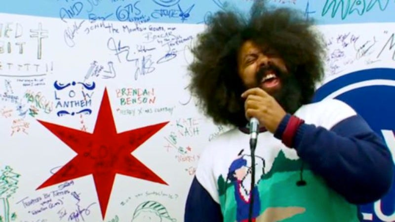 Illustration for article titled Reggie Watts' Late Late Show band is just called Karen