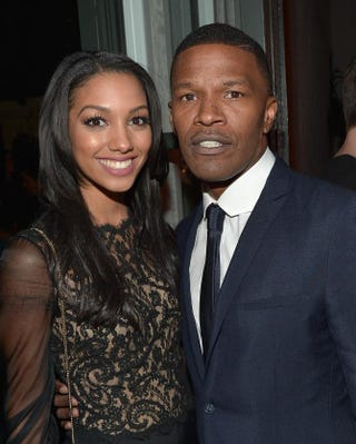 Miss Golden Globe 2016 Corinne Foxx and her father, actor Jamie Foxx, in West Hollywood, Calif., Nov. 17, 2015, at the Hollywood Foreign Press Association event celebrating the upcoming 2016 Golden GlobesCharley Gallay/Getty Images for FIJI Water