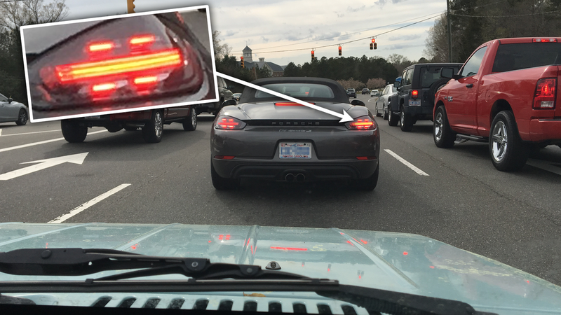 Illustration for article titled The New Porsche Boxster Seems To Have An Unintentional Easter Egg In Its Taillights