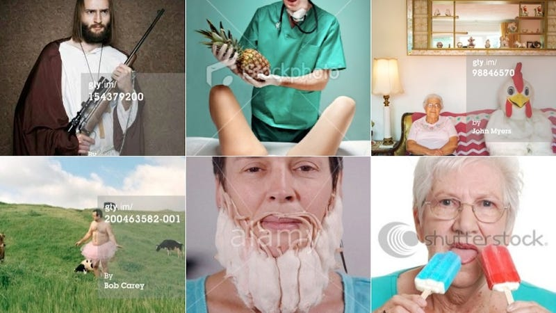 Illustration for article titled What's the Weirdest Stock Photo You Can Find?
