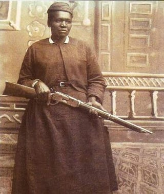 Mary Fields, the first African-American woman to be employed as a mail carrier in the U.S., circa 1895Wikimedia Commons