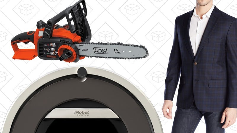 Illustration for article titled Today's Best Deals: Deeply Discounted Roomba, Haggar Clothes, Chainsaw, and More