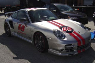 Illustration for article titled GGI Porsche SEMA Special Sports Ed Hardy Graphic Treatment