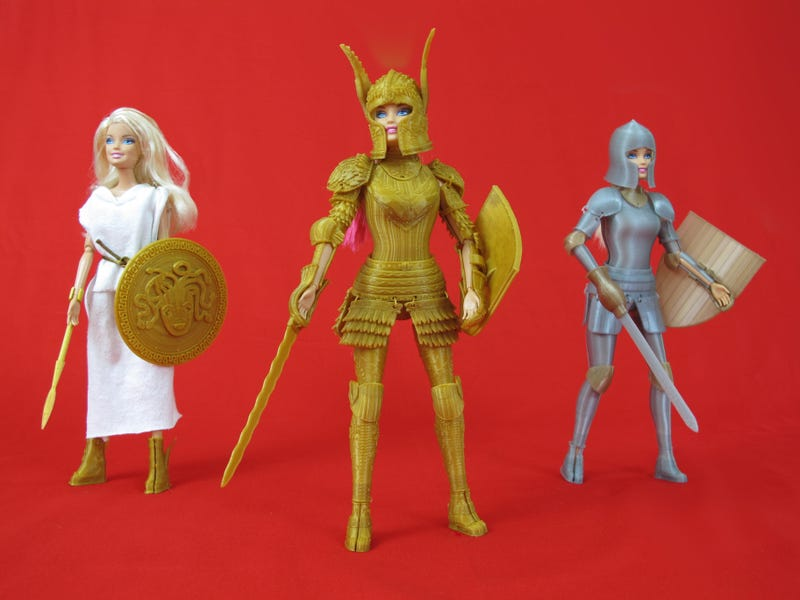 Illustration for article titled A 3D Printed Suit Of Armor To Make Barbie Ready For Battle