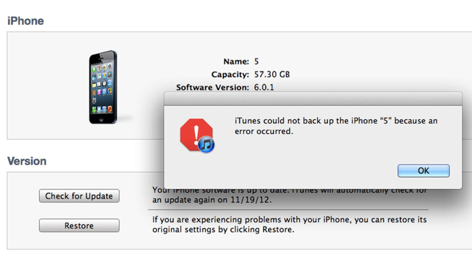 Have You Been Able to Back Up Your iPhone 5 Since Updating