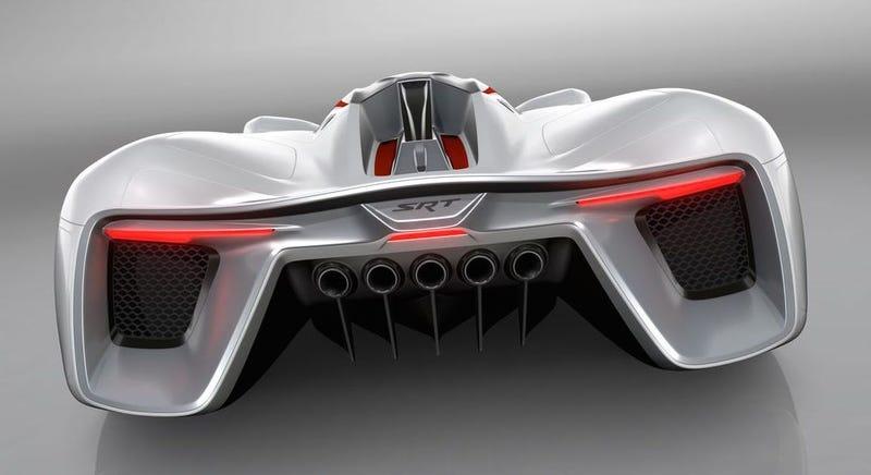 Illustration for article titled Fiat y Chrysler imaginan un deportivo de 2.950 caballos para el año 2035