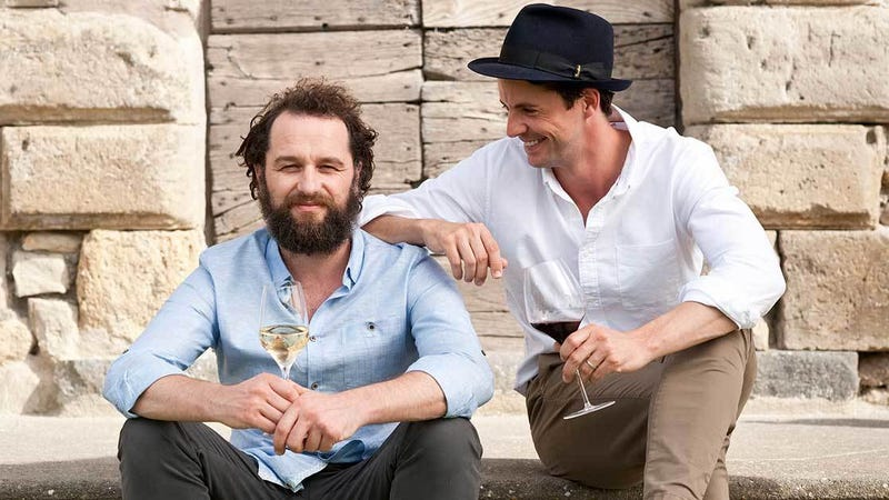 Matthew Rhys (left) and Matthew Goode on The Wine Show