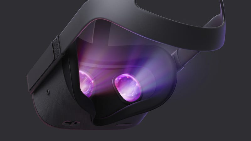 A rear view of the Oculus Quest.