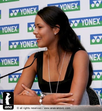 Illustration for article titled Morning Blogdome: Ana Ivanovic Loves You Just the Way You Are