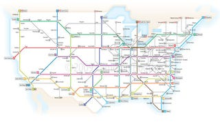 Illustration for article titled What America's Highways Would Look Like As A London Underground Map