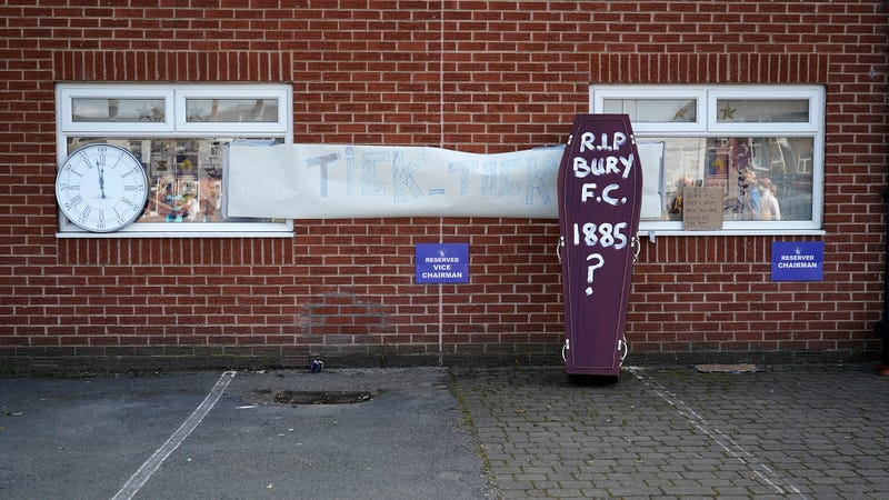 Illustration for article titled Bury Have Been Kicked Out Of The English Football League After 125 Years