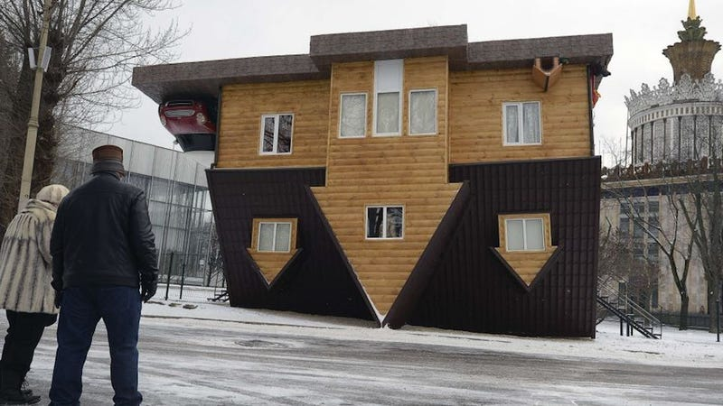 This upside down house is actually right side up