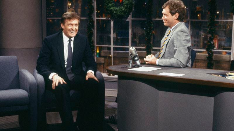 Trump on Late Night in 1987. (Photo: NBC / Getty Images)