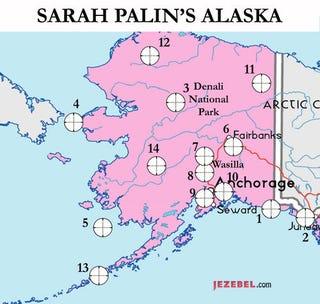 Illustration for article titled Target Practice: A Map Of Sarah Palin's Alaska