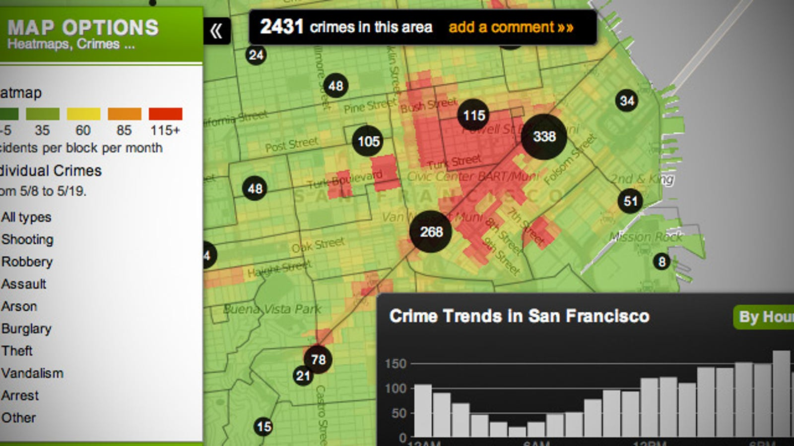 Zillow Crime Map on