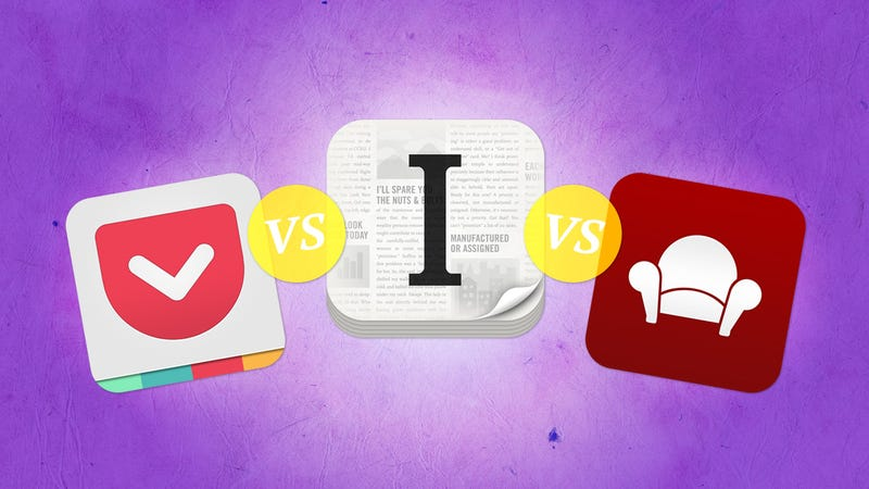 """Illustration for article titled """"Read Later"""" Apps Compared: Pocket vs. Instapaper vs. Readability"""