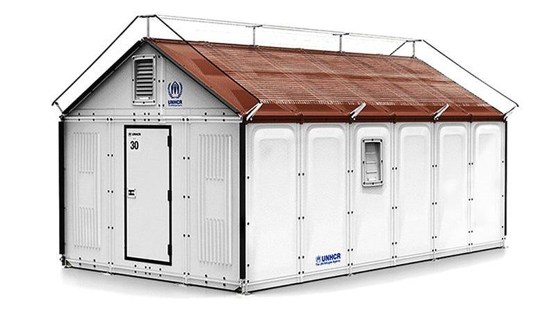 Illustration for article titled No Hex Wrench Needed: Ikea Designs a Smarter Flatpack Refugee Shelter