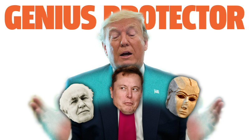 Illustration for article titled President Trump Wants To Protect Geniuses Like Elon Musk, Thomas Edison, And Whoever Invented The Wheel