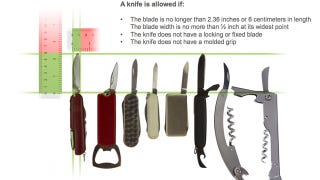 Illustration for article titled TSA Delays Its New Knives-on-Planes Policy