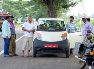 Illustration for article titled Tata Nano Tester Spotted Amid Rumors Of December Launch