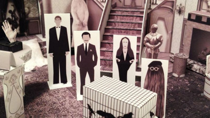 Illustration for article titled Now you can own a miniature version of the Addams Family living room