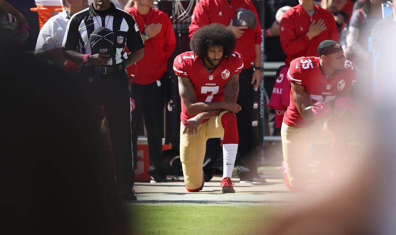 Illustration for article titled A Darkened Image of Colin Kaepernick Appeared on a Republican Campaign Fundraiser, but They Swear They Didn't Do It