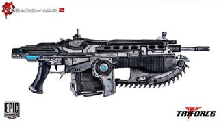Illustration for article titled Life-Size Gears of War Lancer Is Sure to Get Some Kid Expelled