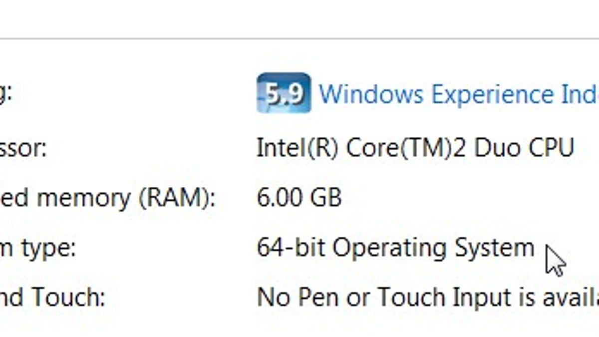 windows 7 professional 32 bit memory limit