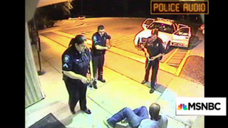 Hosptial video captures two officers using a Taser on Linwood Lambert Jr.MSNBC screenshot
