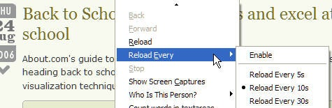 Download of the Day: ReloadEvery extension (Firefox)