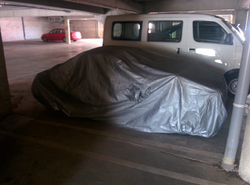 Illustration for article titled What's the car under the cover?