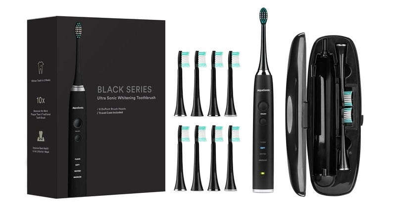 Illustration for article titled Get The AquaSonic Black Series Toothbrush Kit For Just $34 (70% Off)