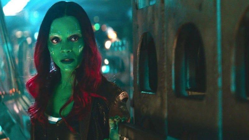 Zoe Saldana as Gamora.