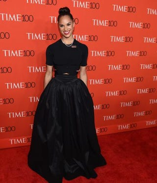 "Honoree ballerina Misty Copeland attends the Time 100 Gala celebrating the Time ""100 Most Influential People in the World"" issue at Jazz at Lincoln Center on April 21, 2015, in New York City.TIMOTHY A. CLARY/AFP/Getty Images"