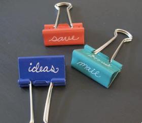 nine great uses for binder clips. Black Bedroom Furniture Sets. Home Design Ideas