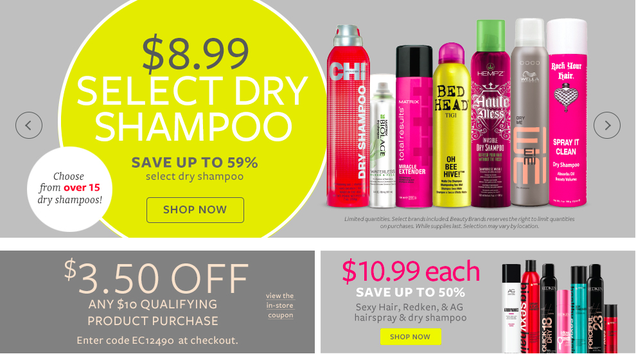 Myriad Dry Shampoo, Hair Spray, and Styling Aids On Sale For $9/Bottle