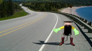 Illustration for article titled This Robot Is Going To Hitchhike Across Canada By Itself