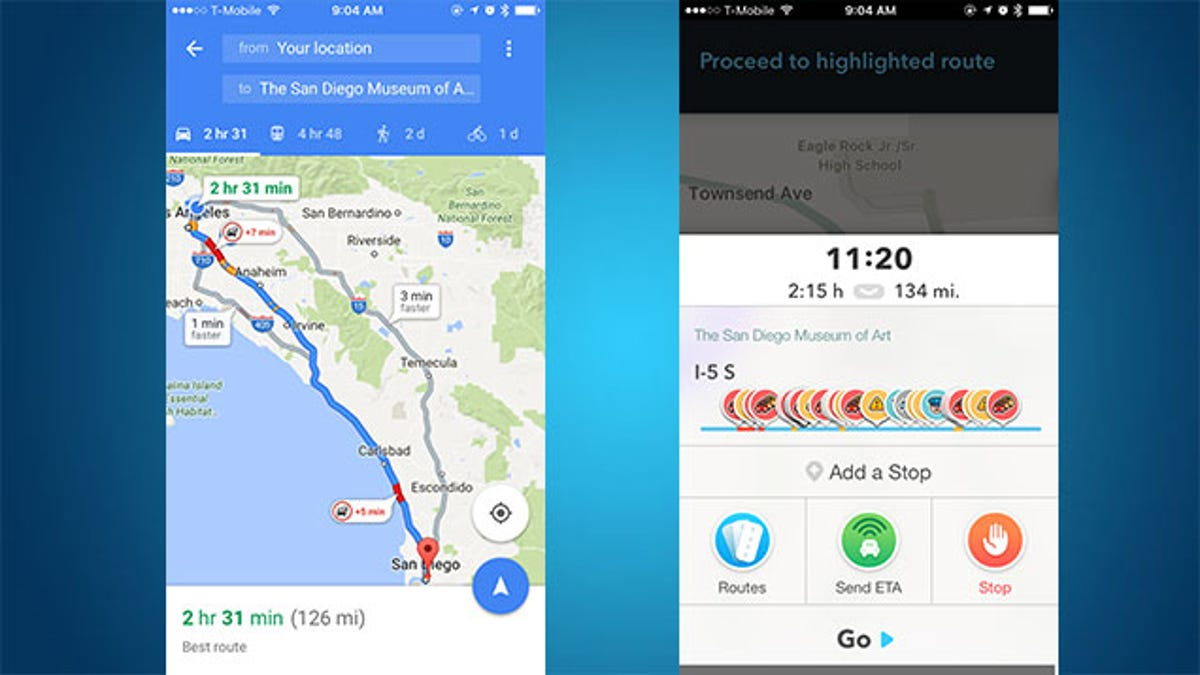 Turn-by-Turn Navigation Showdown: Google Maps vs  Waze