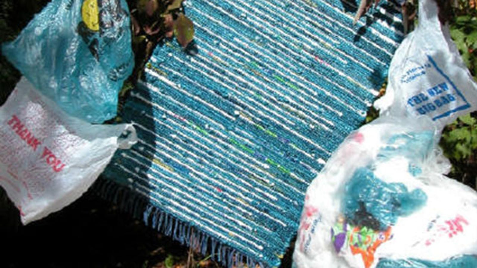 Make An Actual Usable Rug Out Of Plastic Bags