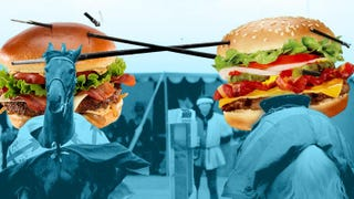 Illustration for article titled The Fast-Food Bacon Wars: McDonald's Goes High, Burger King Goes Low
