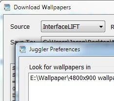 Illustration for article titled Wallpaper Juggler Downloads and Rotates Fresh Wallpaper