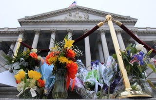 Memorial at Capitol Hill for Tucson shooting victims