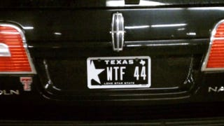 Illustration for article titled Capitol Hill Staffer Changes His 'WTF 44' License Plates